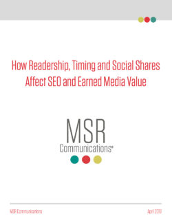 Trend Report: How Readership, Timing and Social Shares Affect SEO and Earned Media Value